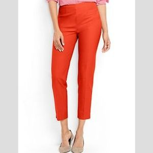 Lands End Bi-Stretch Ankle Pants Orange Red 4